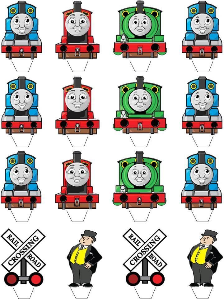 how to make a thomas the tank engine cake topper
